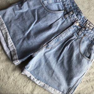 VTG Beverly Hills Denim Company Denim Mom Shorts